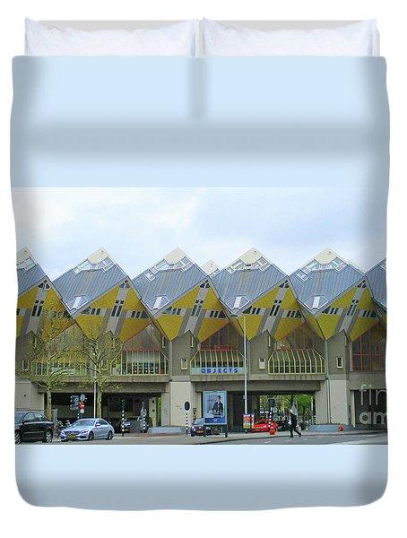 Cube Houses 3 Duvet Cover