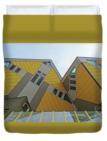 Cube Houses 32 Duvet Cover