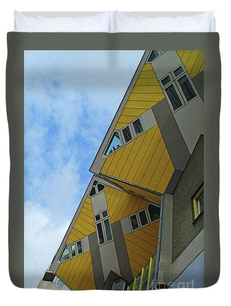 Cube Houses 33 Duvet Cover
