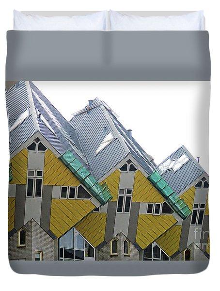 Cube Houses 34 Duvet Cover