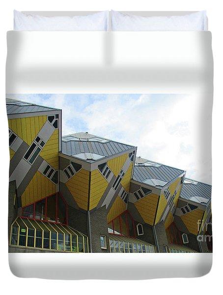 Cube Houses 36 Duvet Cover