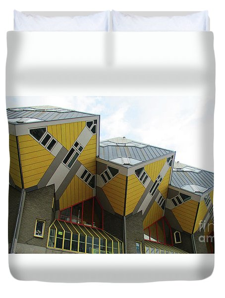 Cube Houses 37 Duvet Cover