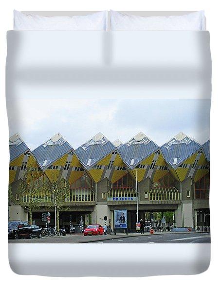 Cube Houses 4 Duvet Cover