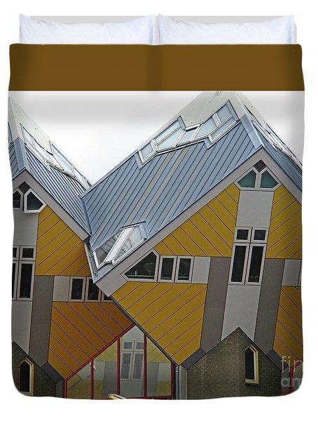Cube Houses 6 Duvet Cover