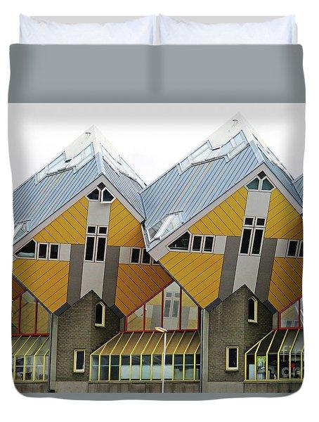 Cube Houses 7 Duvet Cover