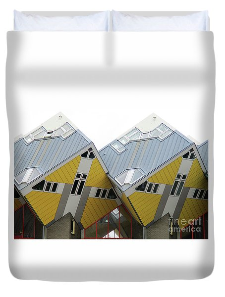 Cube Houses 8 Duvet Cover
