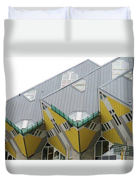 Cube Houses 9 Duvet Cover