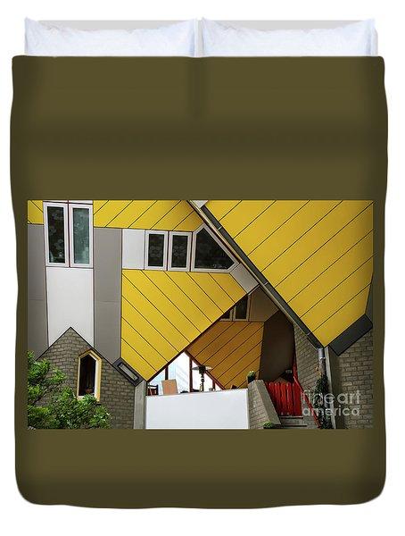 Cube Houses Detail In Rotterdam Duvet Cover