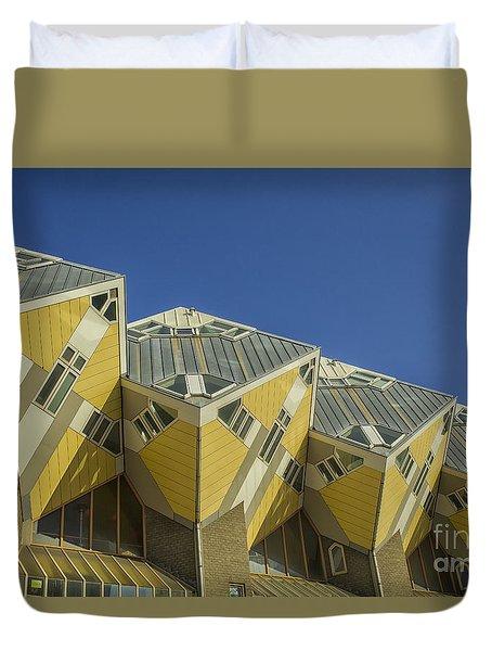 Cube Houses In Rotterdam Duvet Cover