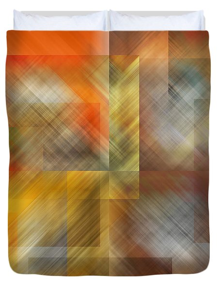 Duvet Cover featuring the photograph Cubic Space by Mark Greenberg