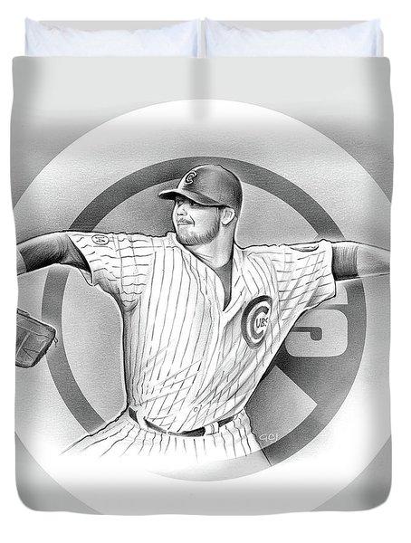 Cubs 2016 Duvet Cover by Greg Joens