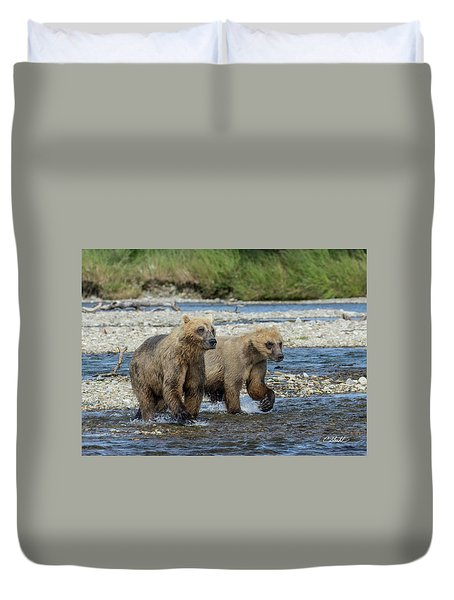 Cubs On The Prowl Duvet Cover