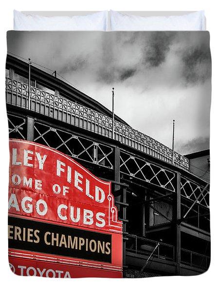 Cubs Win Cubs Win Duvet Cover