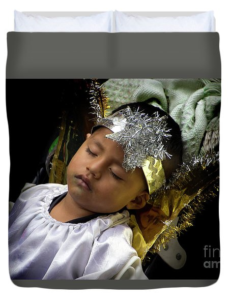 Cuenca Kids 781 Duvet Cover by Al Bourassa