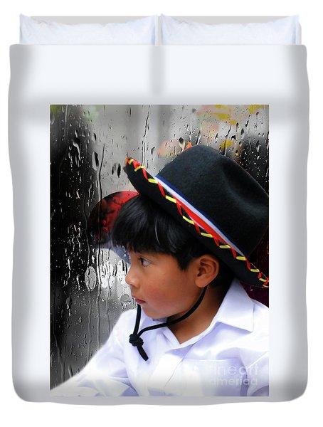 Cuenca Kids 880 Duvet Cover by Al Bourassa