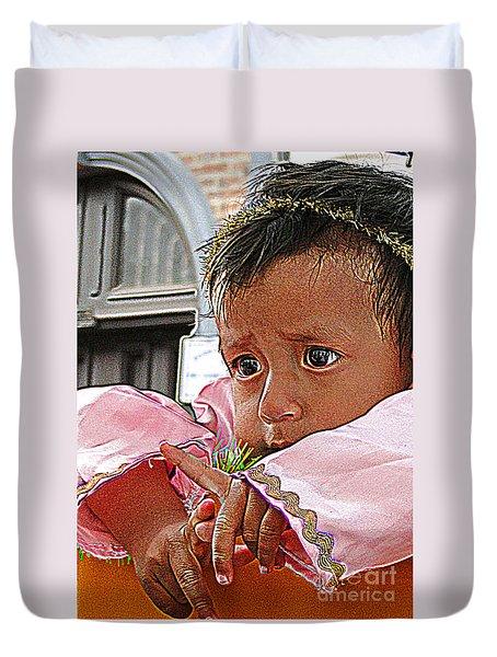 Cuenca Kids 881 Duvet Cover by Al Bourassa