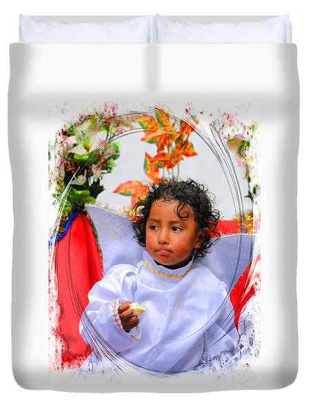 Cuenca Kids 882 Duvet Cover by Al Bourassa