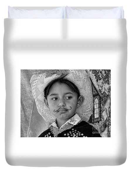 Duvet Cover featuring the photograph Cuenca Kids 883 by Al Bourassa
