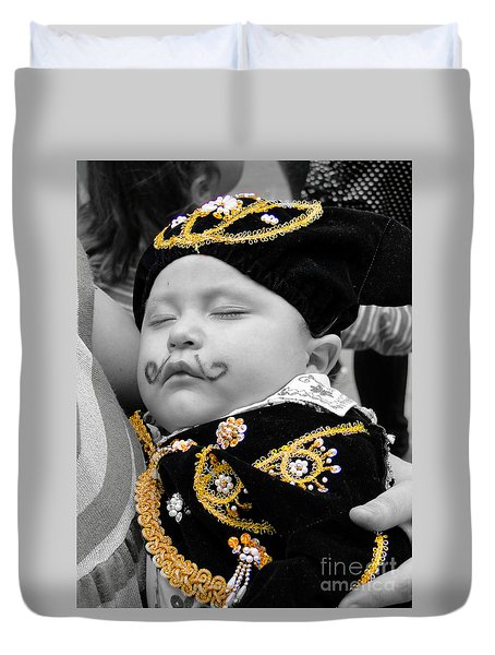 Duvet Cover featuring the photograph Cuenca Kids 891 by Al Bourassa