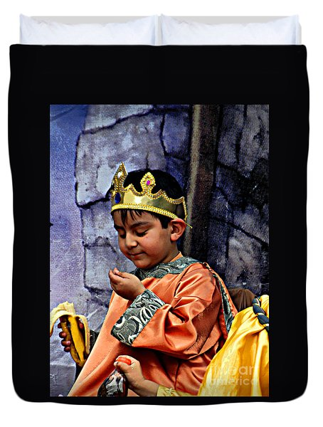 Duvet Cover featuring the photograph Cuenca Kids 903 by Al Bourassa