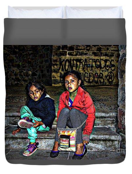 Cuenca Kids 953 Duvet Cover by Al Bourassa