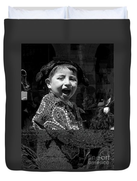 Cuenca Kids 954 Duvet Cover by Al Bourassa