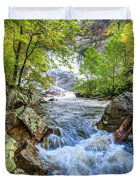 Cullasaja Falls Duvet Cover