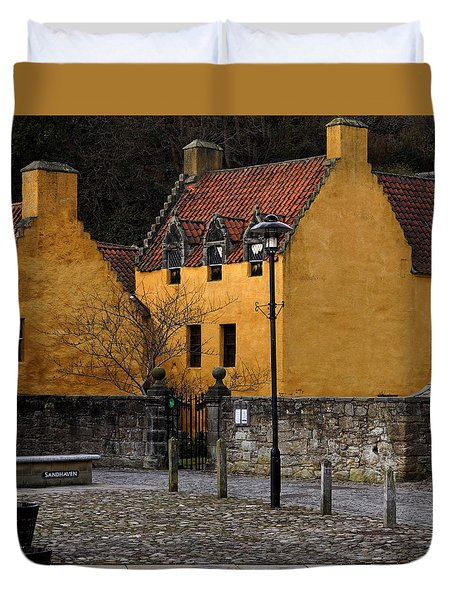 Duvet Cover featuring the photograph Culross by Jeremy Lavender Photography