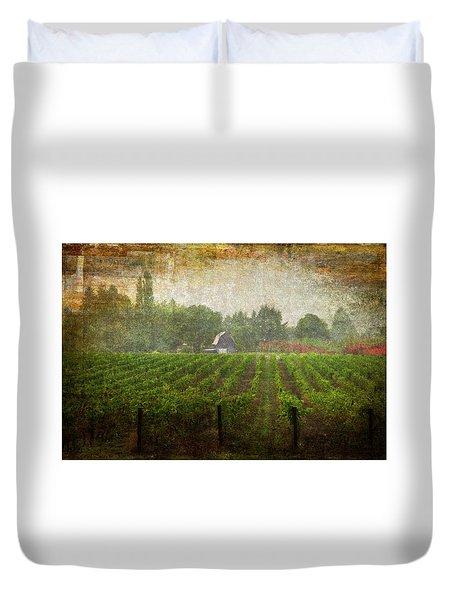 Cultivating A Chardonnay Duvet Cover by Jeffrey Jensen