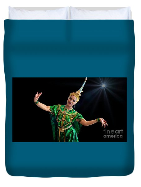 Cultural Thai Dance Duvet Cover