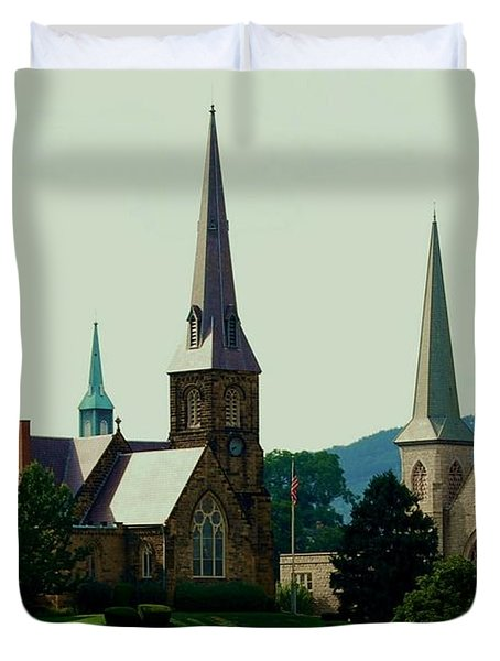 Cumberands Steeples Duvet Cover by Eric Liller