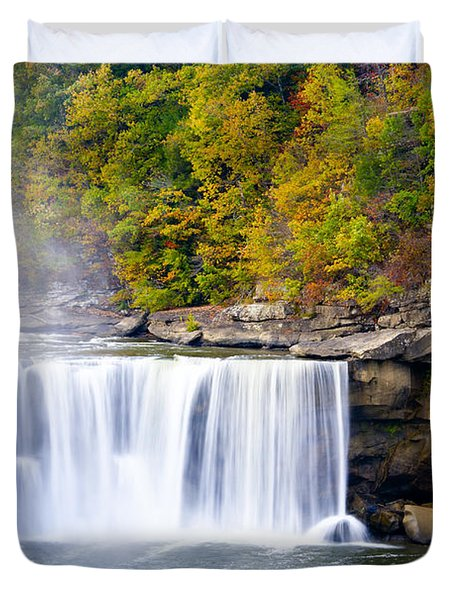 Cumberland Falls Duvet Cover by Alexey Stiop