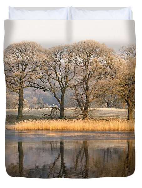 Cumbria, England Lake Scenic With Duvet Cover by John Short