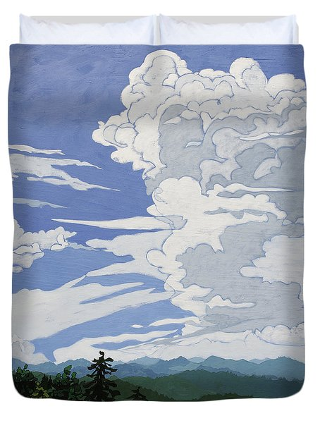 Cumulonimbus Afternoon Duvet Cover