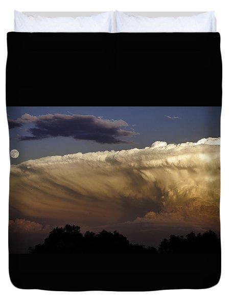 Cumulonimbus At Sunset Duvet Cover