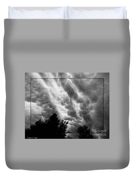 Cumulonimbus Clouds Over Cagliari Duvet Cover