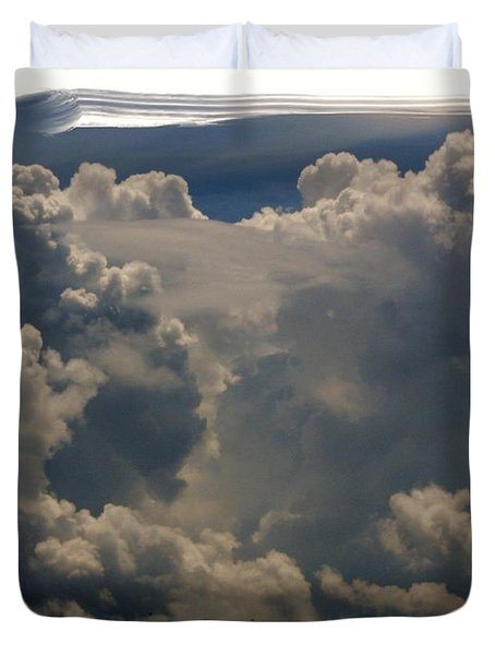 Cumulonimbus Duvet Cover by Priscilla Richardson
