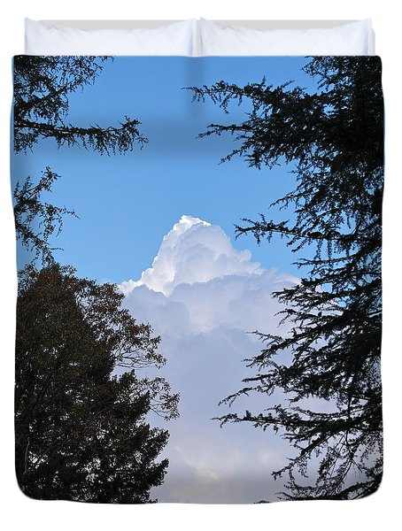 Duvet Cover featuring the photograph Cumulus Giant by Michele Myers