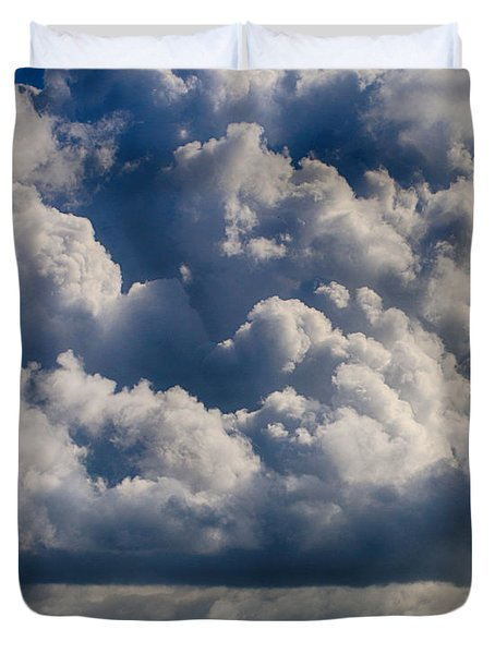 Cumulus Over The River Duvet Cover
