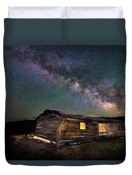 Cunningham Cabin After Dark Duvet Cover