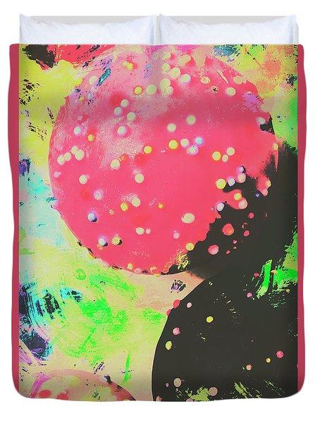 Cup Cake Birthday Splash Duvet Cover