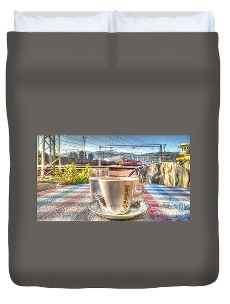 Cup Of Coffee On A Sunny Day Duvet Cover