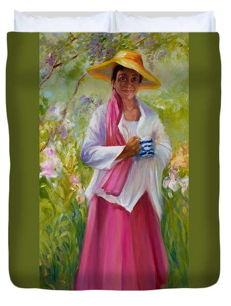 Cup Of Tea? Duvet Cover by Jane Woodward