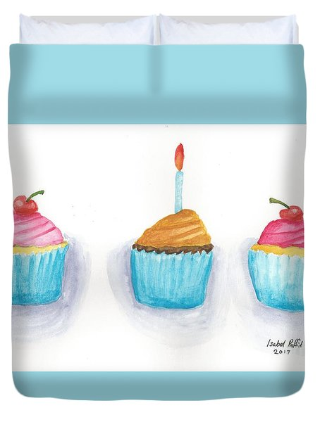 Cupcakes?  Duvet Cover by Isabel Proffit
