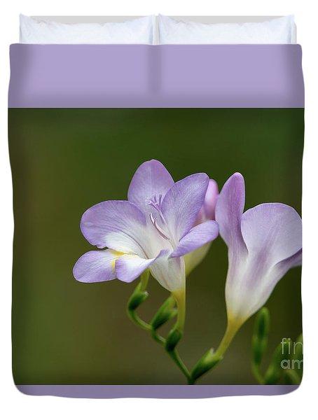 Cupertino Lavender Freesias Duvet Cover