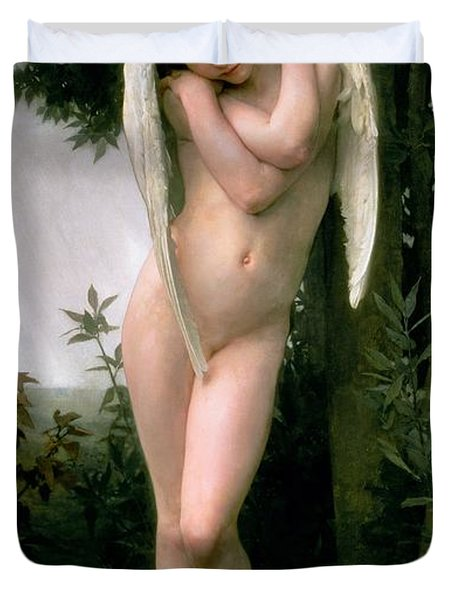 Cupidon Duvet Cover by William Adolphe Bouguereau