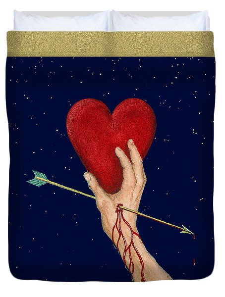 Cupids Arrow Duvet Cover by Charles Harden