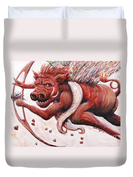 Cupig Duvet Cover by Nadine Rippelmeyer