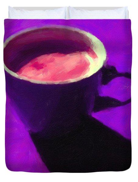 Cuppa Joe - Purple Duvet Cover