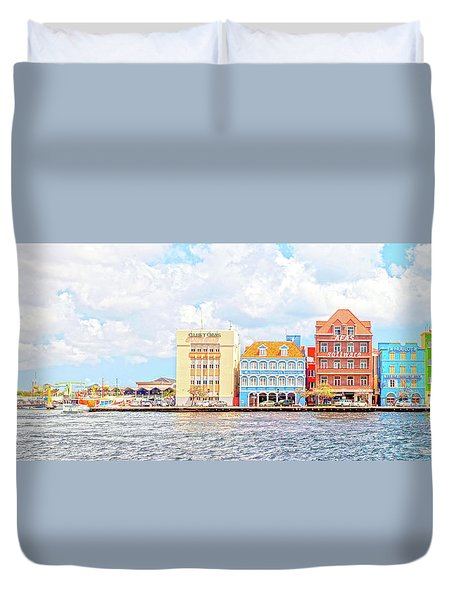 Curacao Awash Duvet Cover